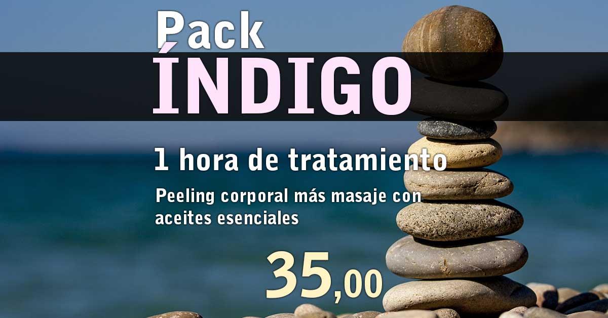 Pack Indigo Peeling corporal más masaje con aceites esenciales