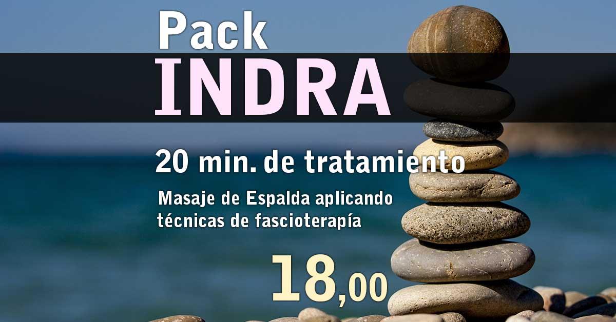 Pack Indra Masaje de Espalda aplicando técnicas de fascioterapia