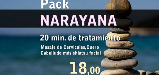 Pack Narayana Masaje de Cervicales,Cuero Cabelludo más shiatsu facial